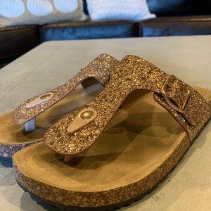 Gold Alexis Bendel Sandals-Size 10
